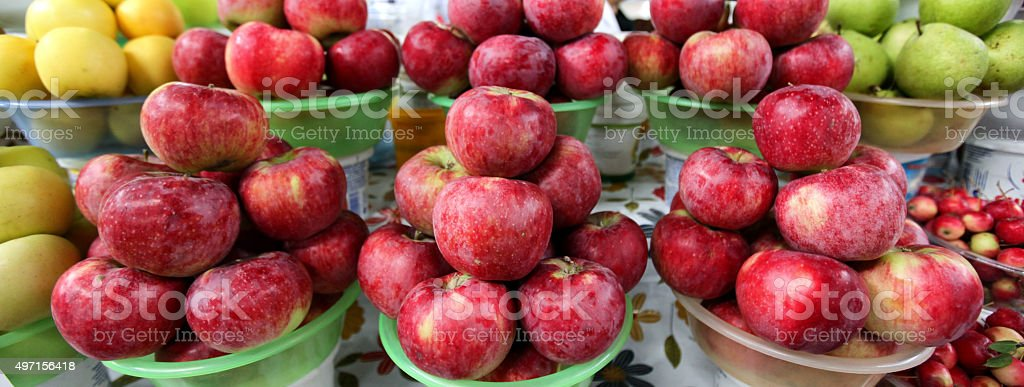 The Apples of Almaty in Kazakhstan stock photo