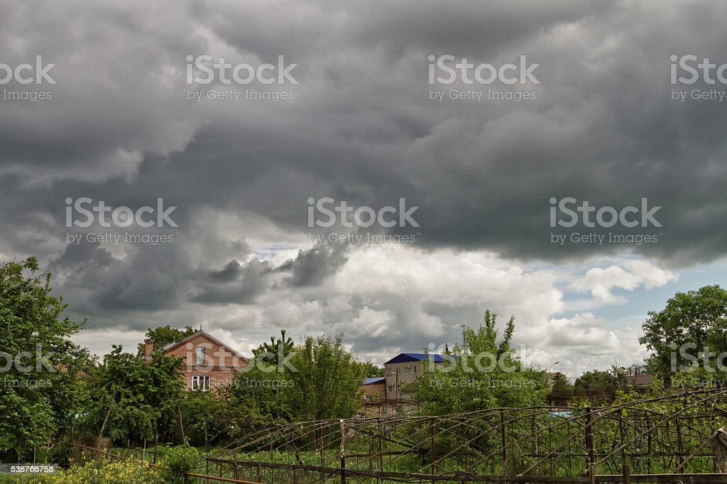 The approaching storm front stock photo