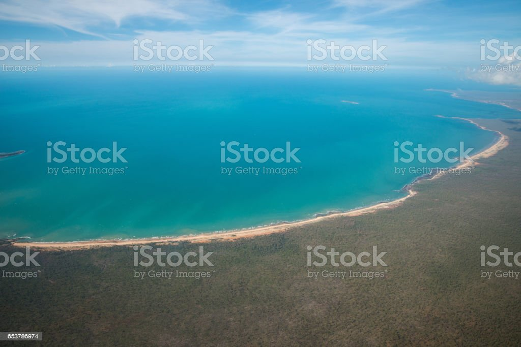 The Arafura Sea lies west of the Pacific Ocean overlying the continental shelf between Australia and Indonesian New Guinea. stock photo