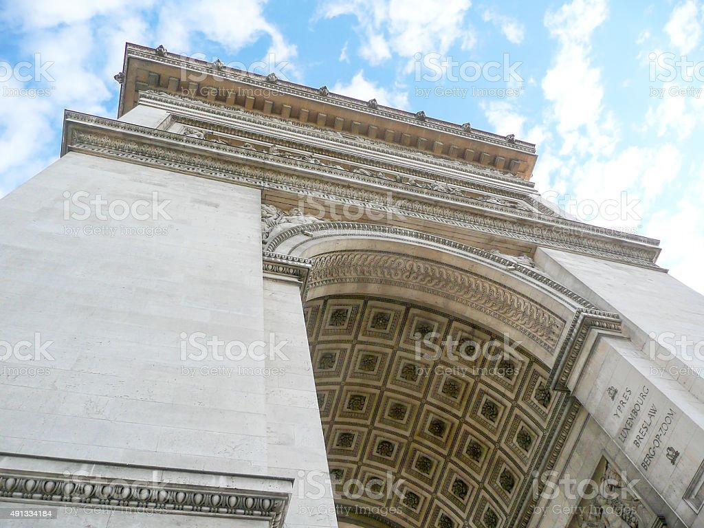 The Arc de Triomphe de l'Étoile, Paris stock photo