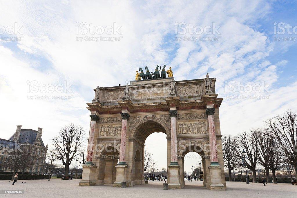 The Arc de Triomphe du Carrousel in Paris stock photo