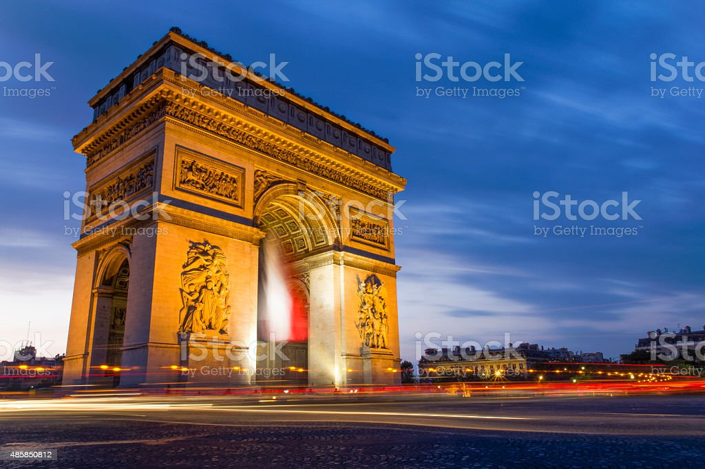The 'Arc de Triomphe' stock photo