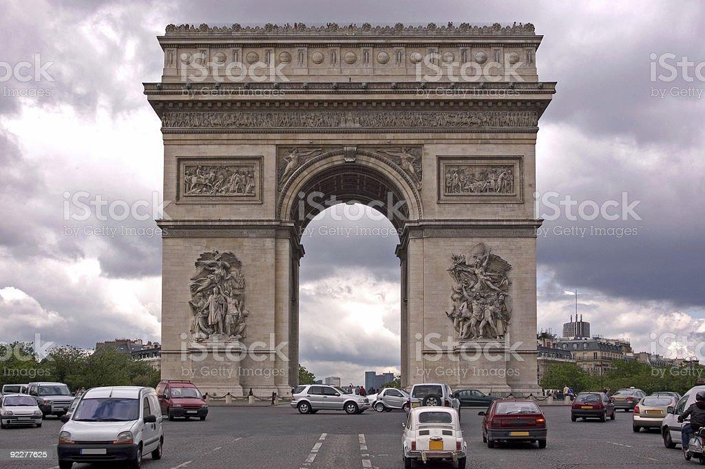 The Arc de Triomphe royalty-free stock photo