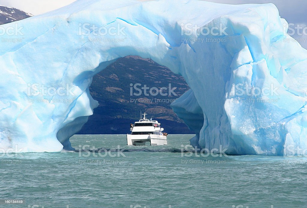 the arc made of ice stock photo