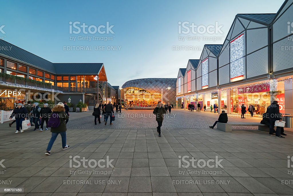 The Arc shopping mall in Bury St Edmunds stock photo