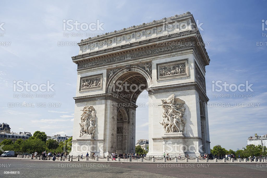 The Arc the Triomphe in Paris stock photo