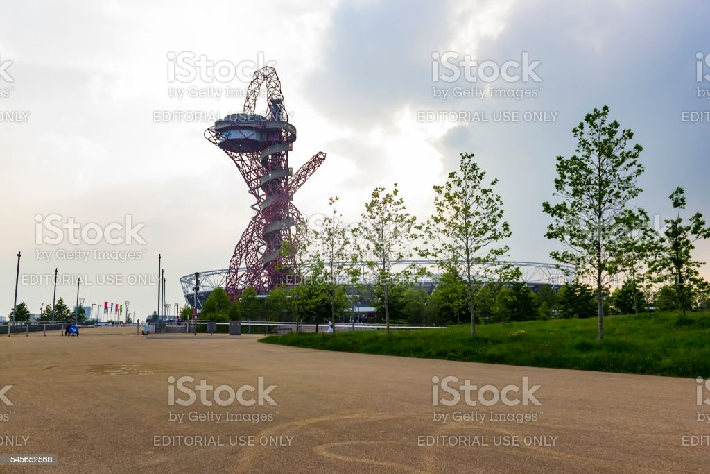 The ArcelorMittal Orbit observation tower stock photo