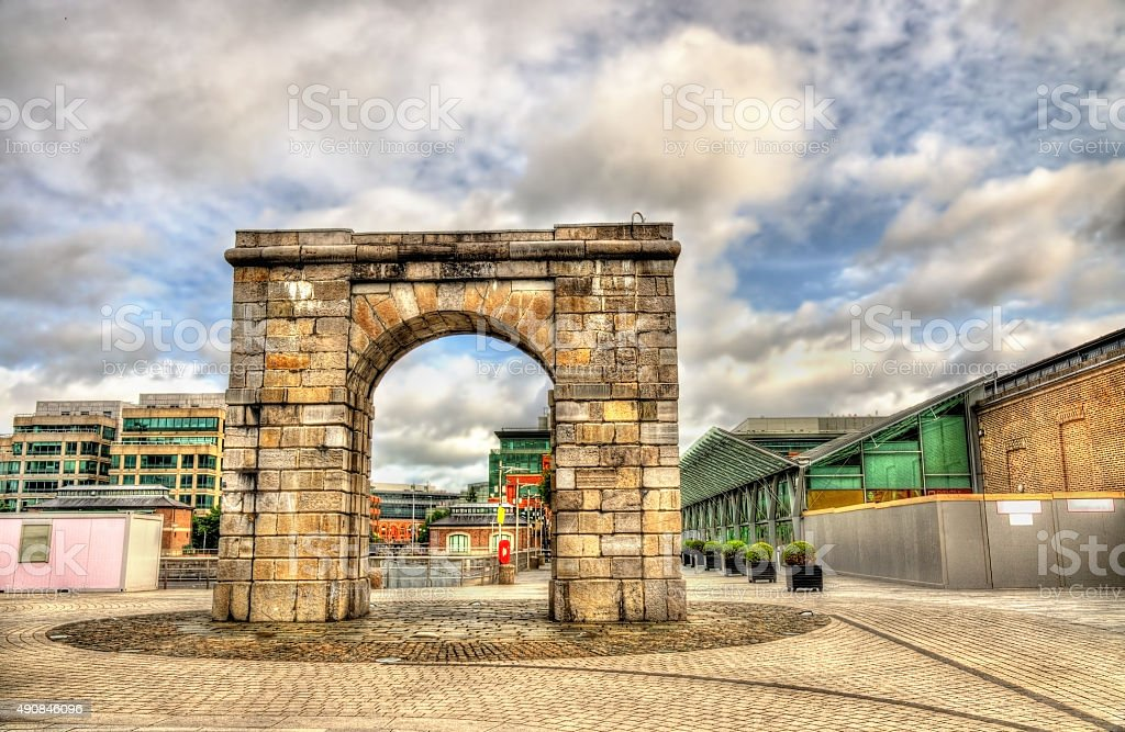 The Arch at George Dock in Dublin - Ireland stock photo