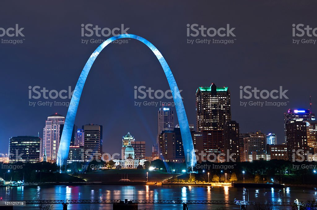 The arch in the city of St Louis stock photo
