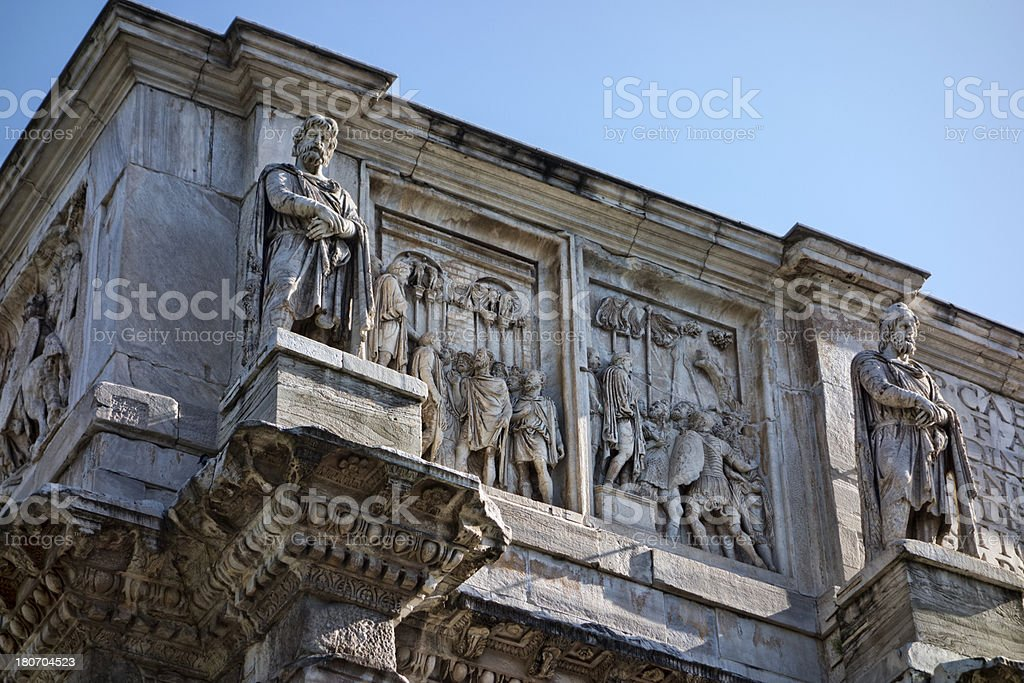 The Arch of Constantine, detail royalty-free stock photo