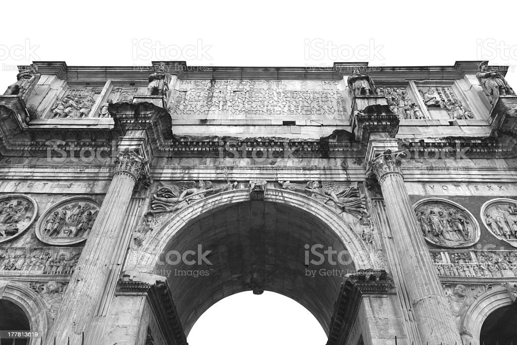 The Arch of Constantine. Rome royalty-free stock photo
