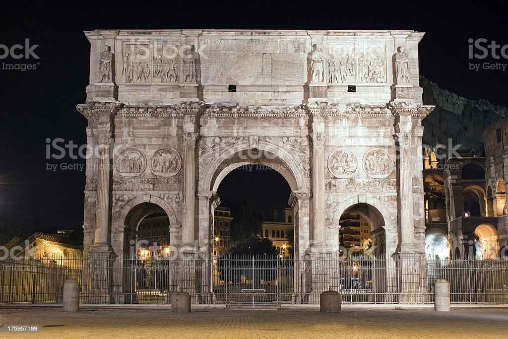 The Arch of Cosntantine, Rome, Italy royalty-free stock photo