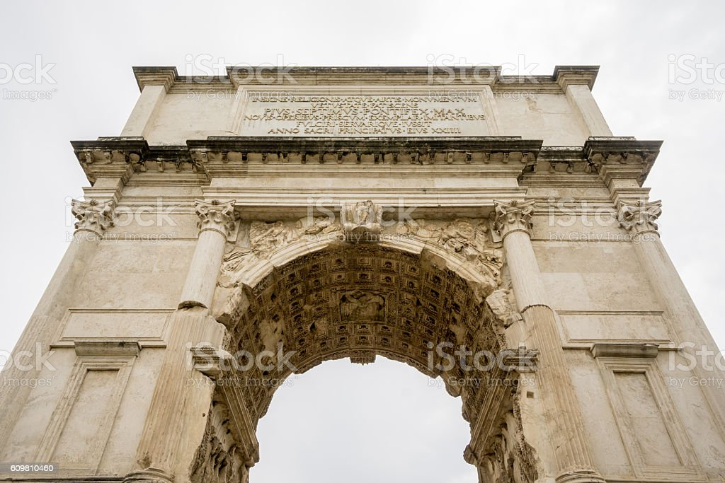 The Arch of Titus in Rome stock photo