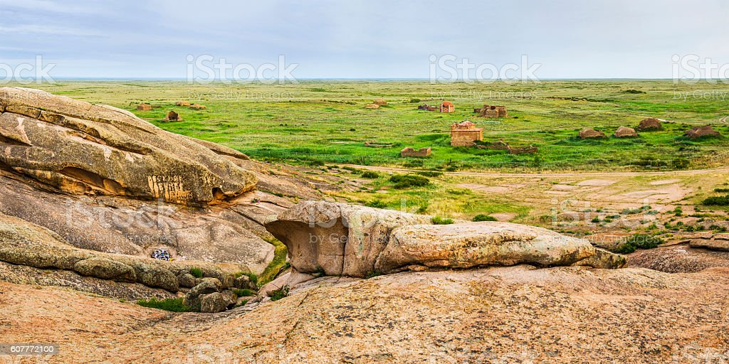 The archaeological monument Terekty-Aulie stock photo