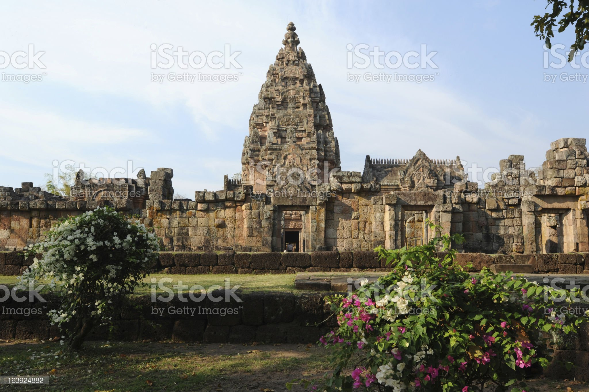 The archaeological site of Phnom Rung royalty-free stock photo