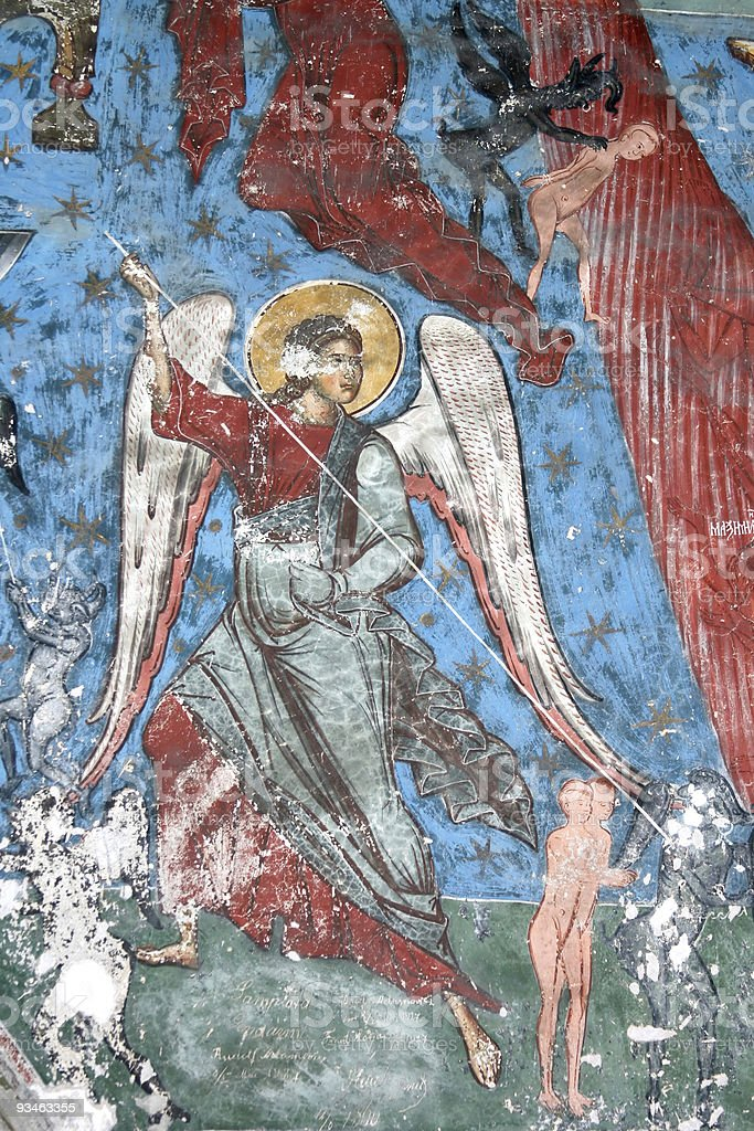The Archangel with spear royalty-free stock photo