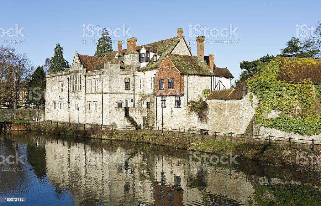 The Archbishops Palace, Maidstone, UK stock photo