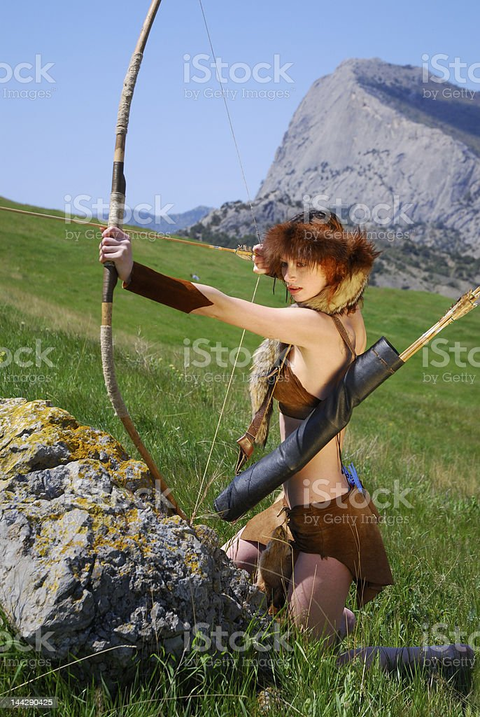 The archer girl royalty-free stock photo