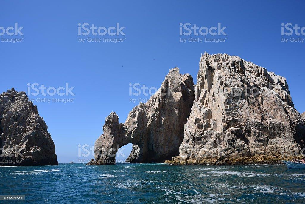 The arches at lands end Cabo San Lucas, Baja Mexico stock photo