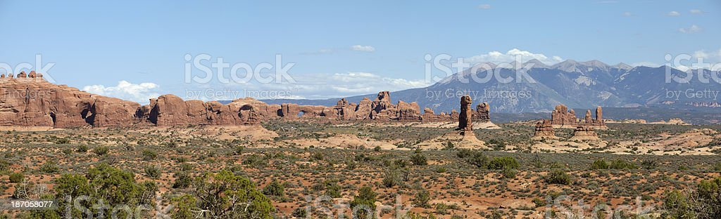 The Arches National Park and La Sal Mountains royalty-free stock photo