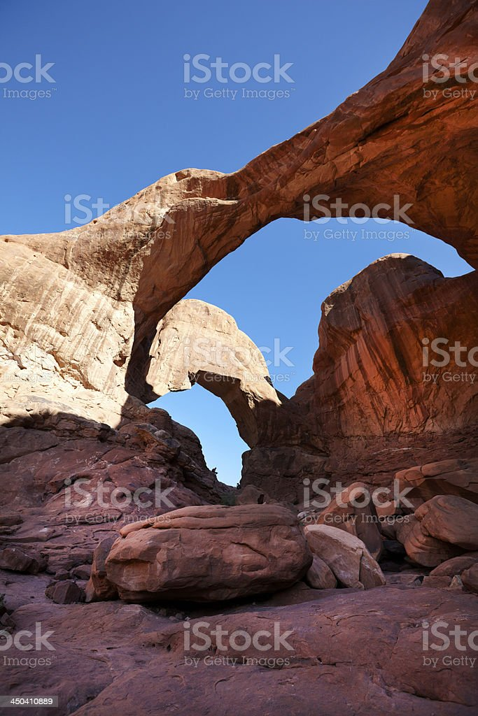 The Arches National park : Double Arch royalty-free stock photo