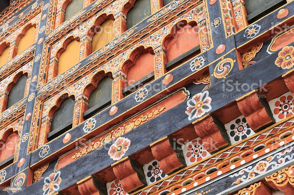 The Architecture of Bhutan. stock photo