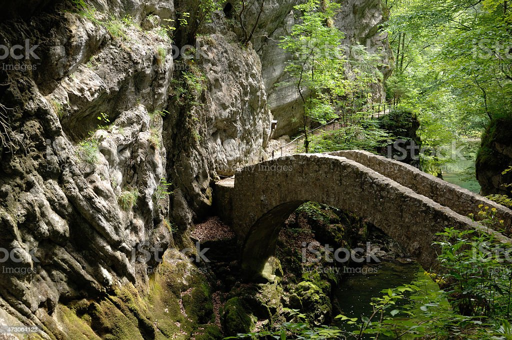 The Areuse Gorge and River - Swiss Jura stock photo