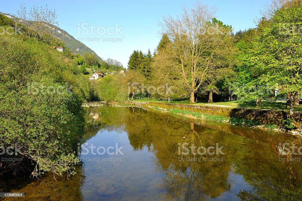 The Areuse River stock photo