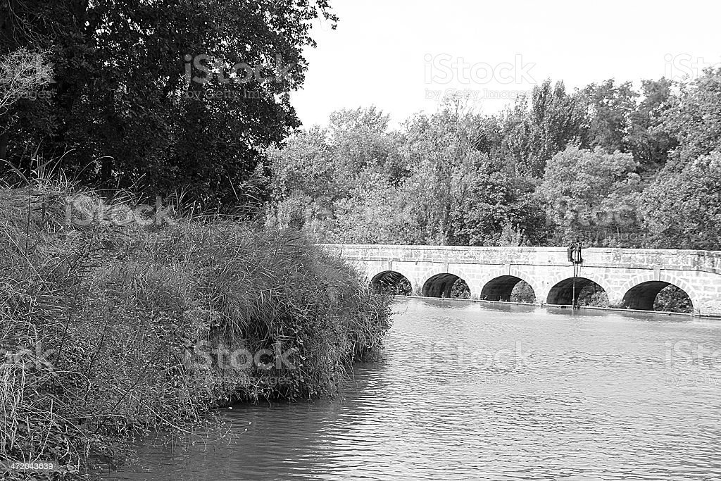 The Argent-Double Aqueduct, France royalty-free stock photo