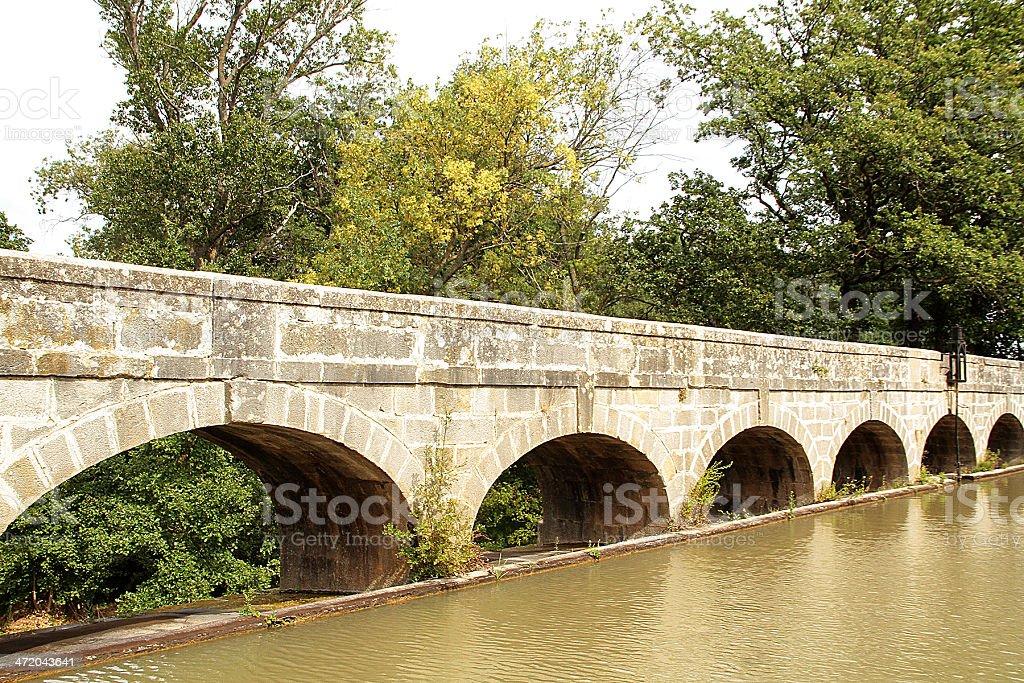 The Argent-Double Aqueduct, La Redorte. France royalty-free stock photo