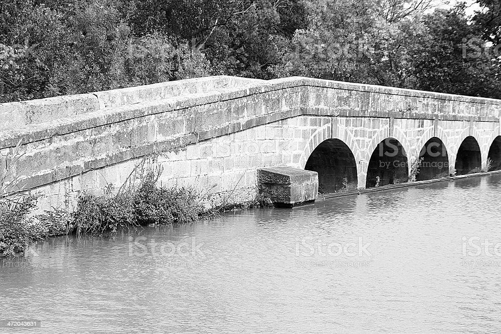 l'argento-doppia Acquedotto/Pont-canal de l Argent, Francia foto stock royalty-free