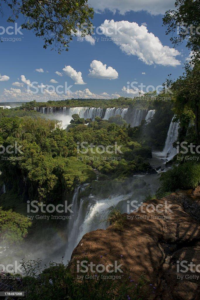 the Argentinian Side of Iguazu Falls royalty-free stock photo