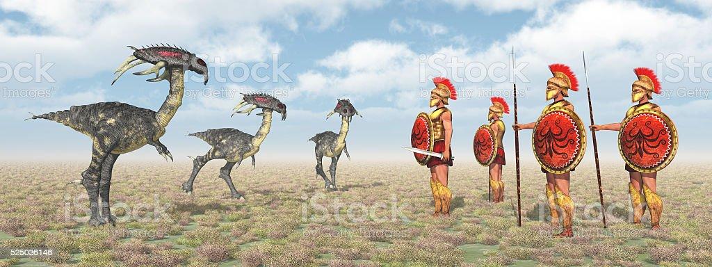 The Argonauts at the Harpies stock photo
