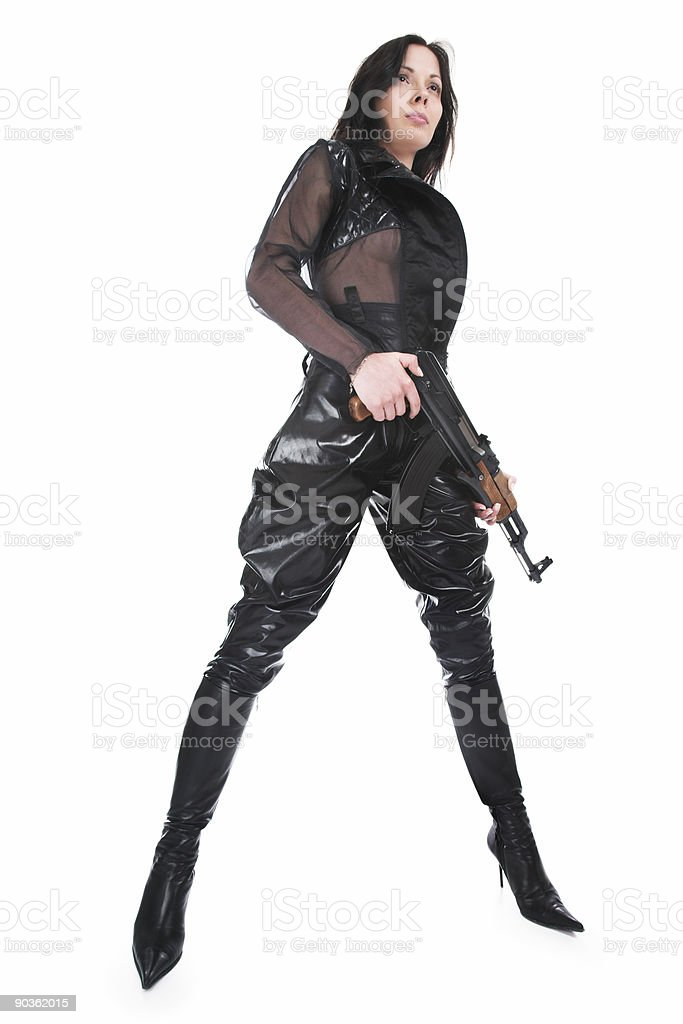 The armed girl royalty-free stock photo