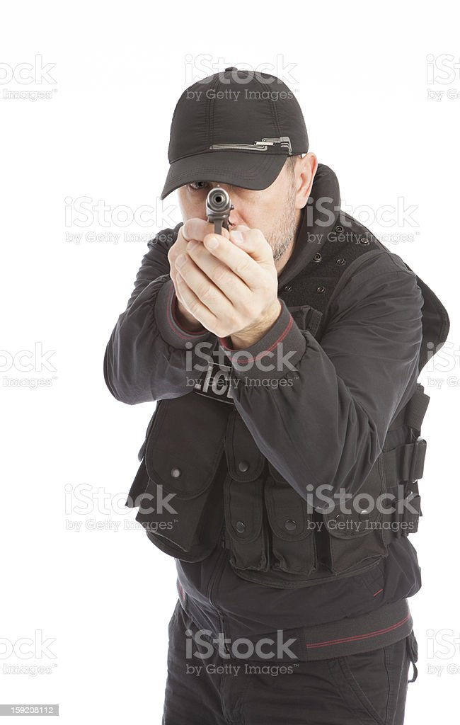 The armed person. royalty-free stock photo