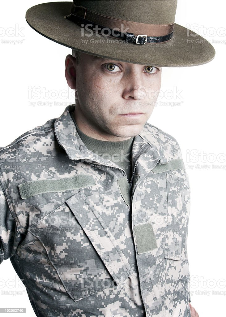 The Army Drill Sergeant royalty-free stock photo