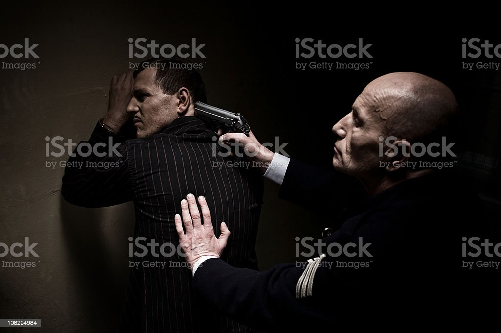 The Arrest royalty-free stock photo