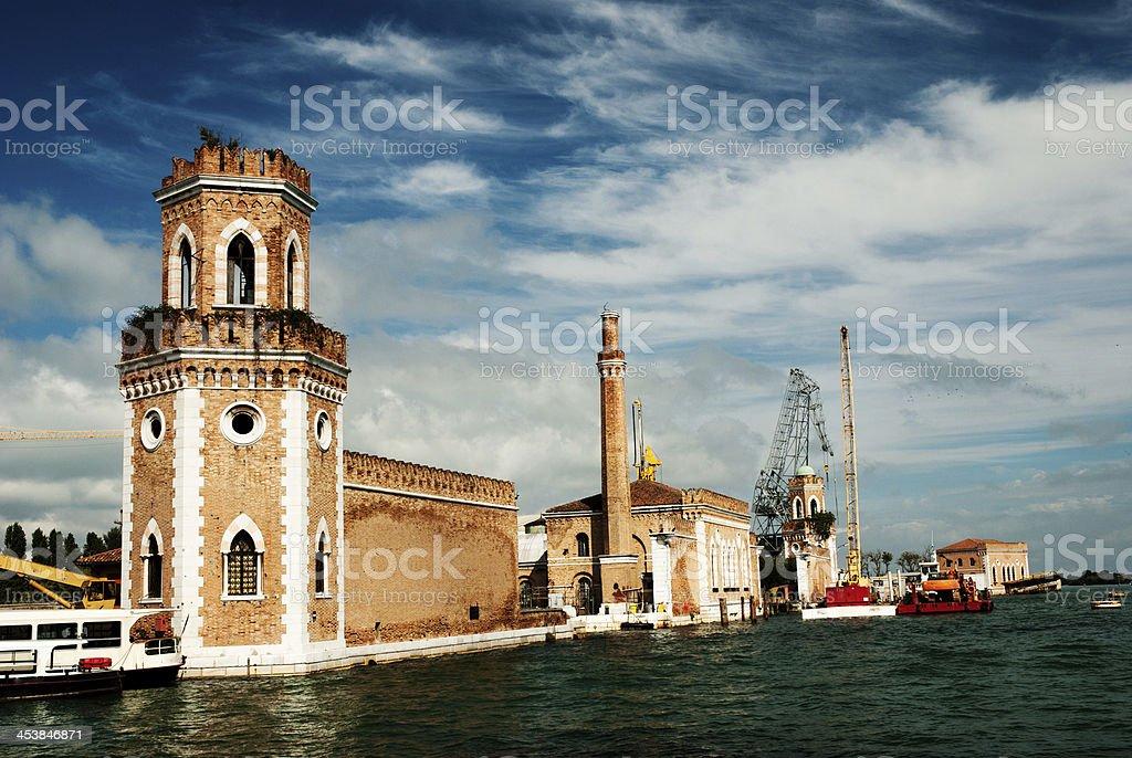 The Arsenale, Venice stock photo