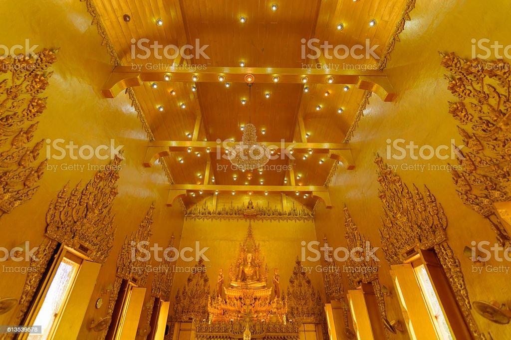 The Art in Wat Paknam Jolo, Bangkla, Chacheongsao, Thailand, Tak stock photo