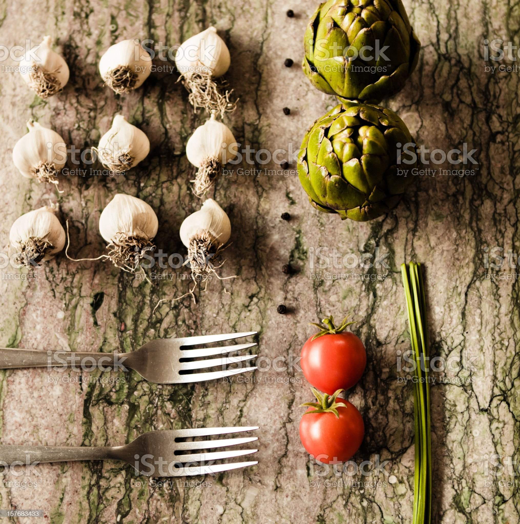 The art of cooking royalty-free stock photo