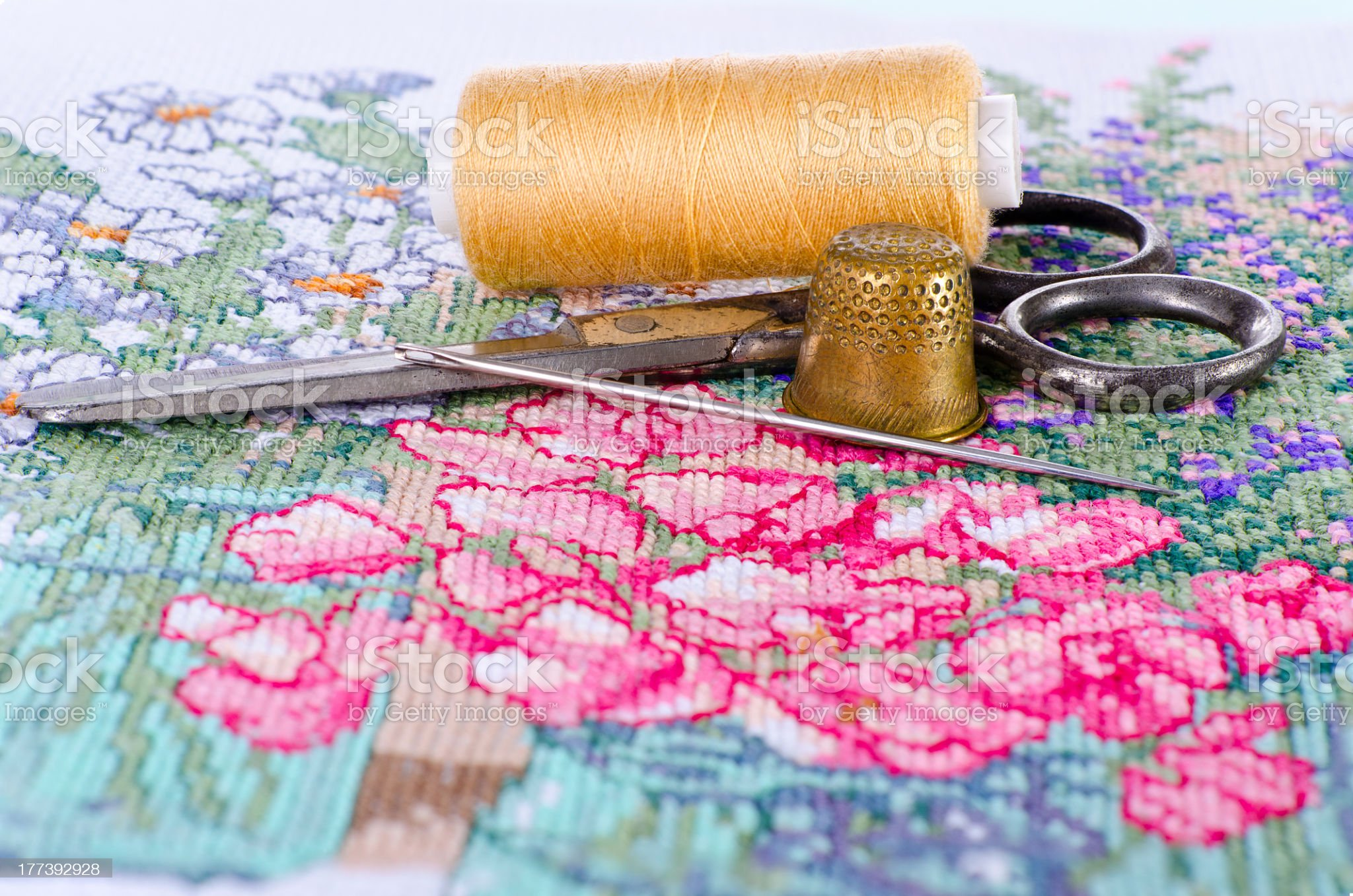 the art of embroidery royalty-free stock photo