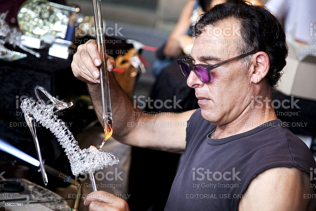 The art of glass blowing royalty-free stock photo