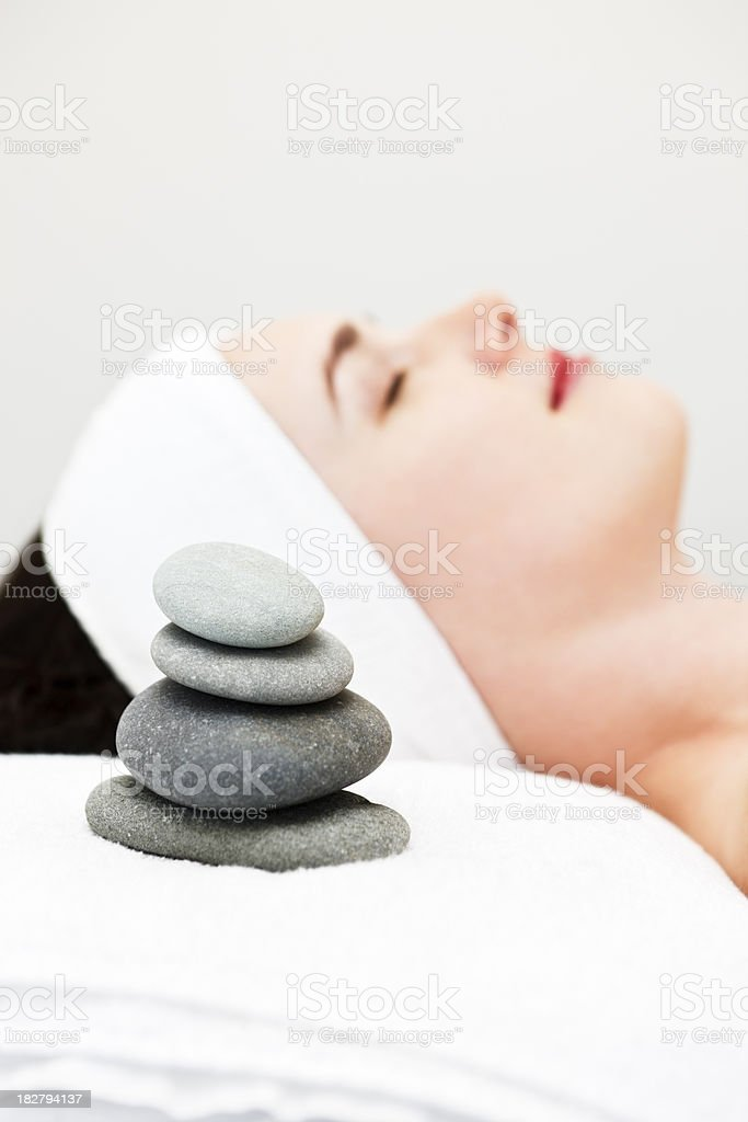 The art of relaxation royalty-free stock photo