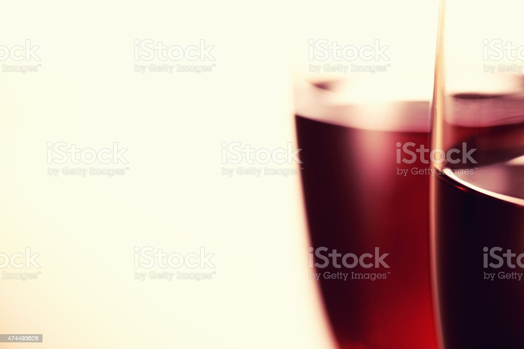 The art of wine glass background stock photo