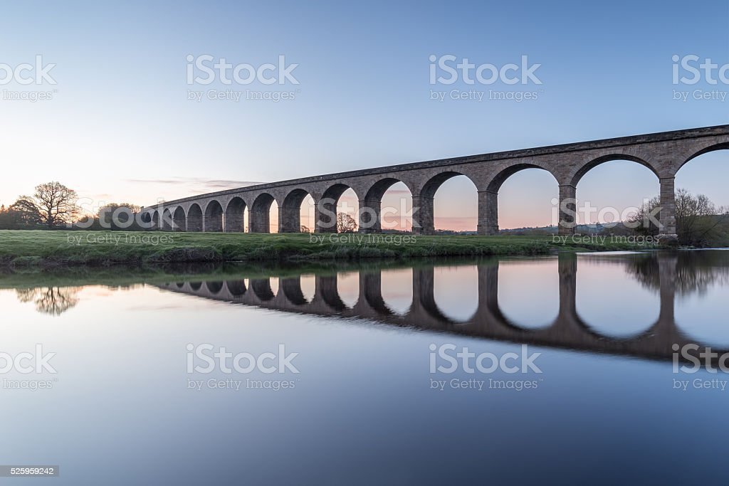The Arthington Railway Viaduct, UK stock photo