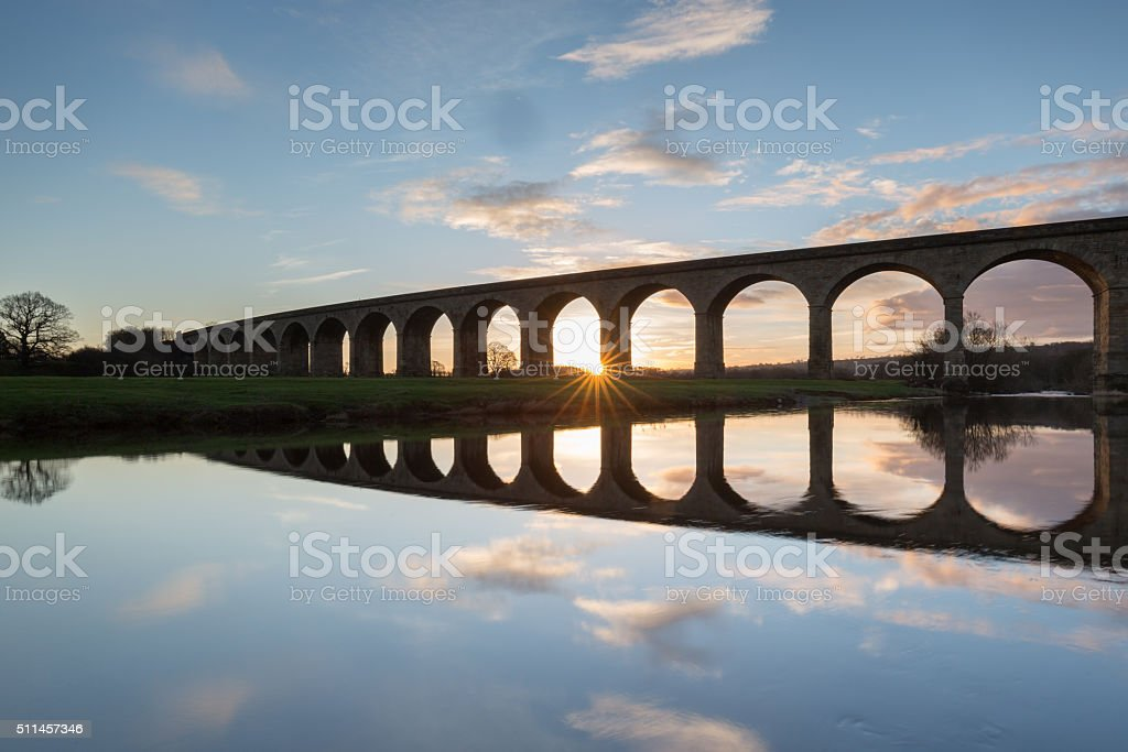 The Arthington Viaduct, North Yorkshire stock photo