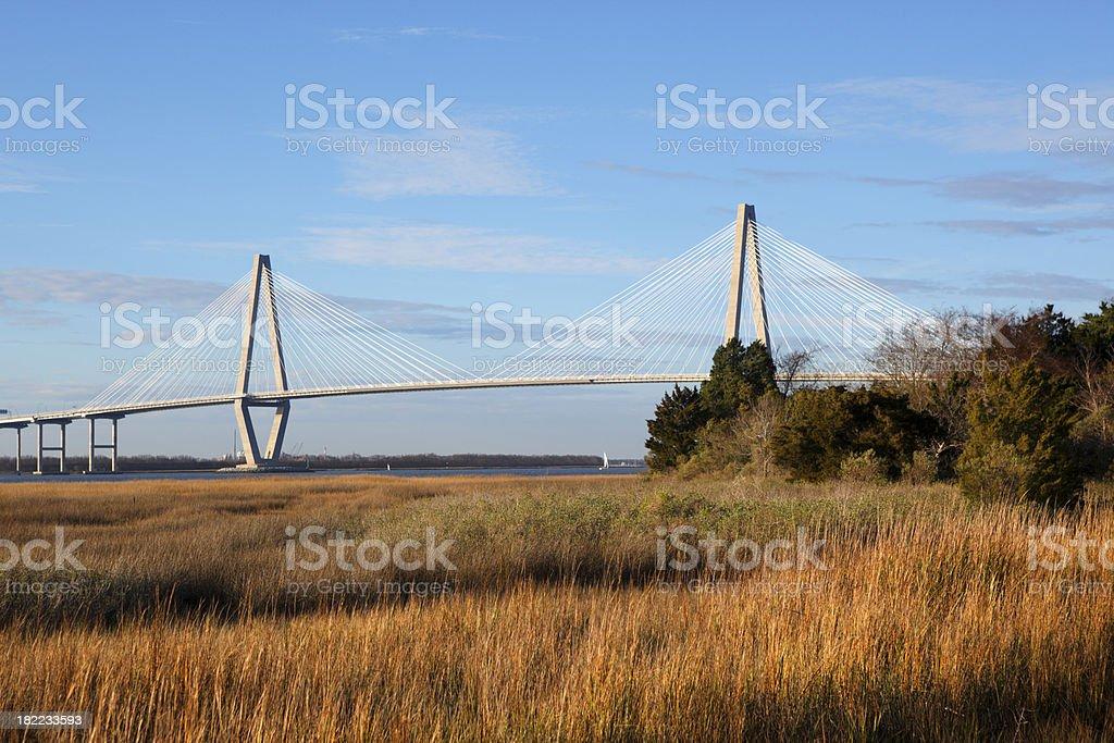 The Arthur Ravenel Jr. Bridge royalty-free stock photo