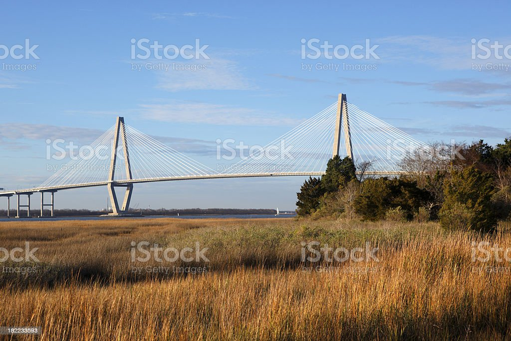 The Arthur Ravenel Jr. Bridge stock photo