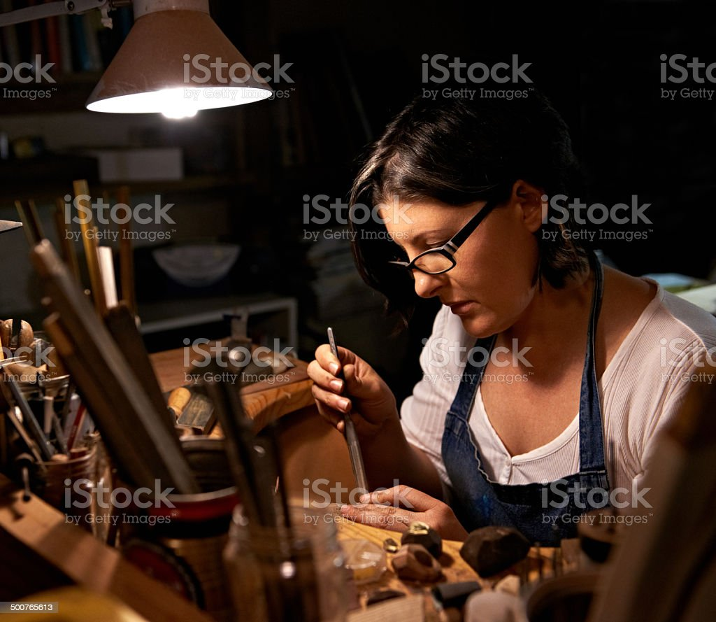 The artisan at work stock photo