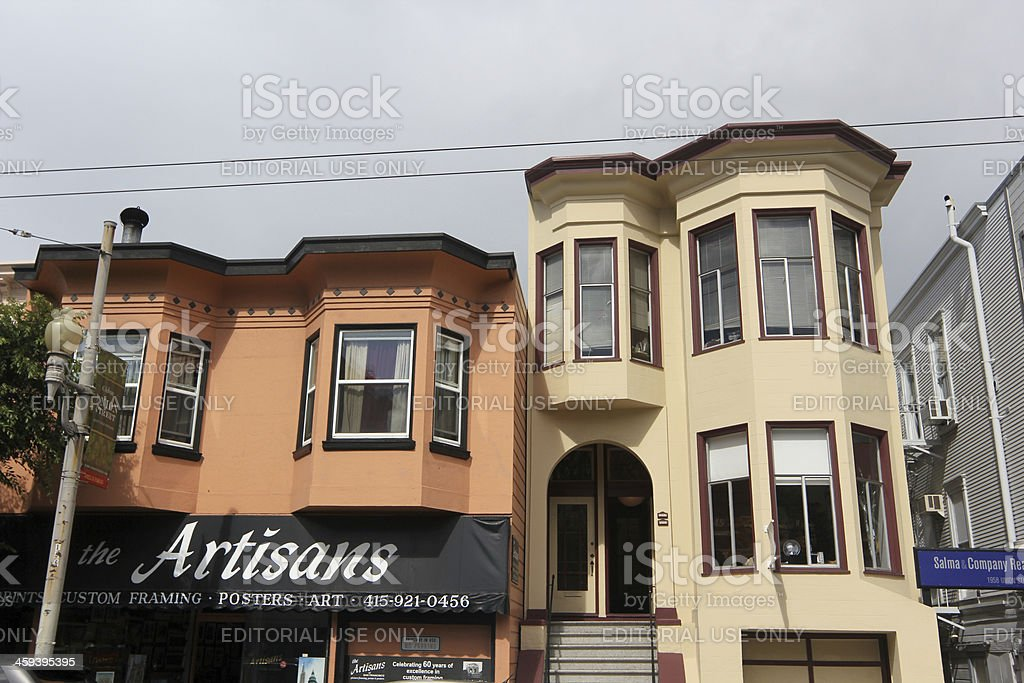 The Artisans in Cow Hollow, San Francisco royalty-free stock photo